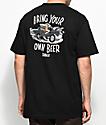 Beer Savage BYOB Hot Rod Black T-Shirt