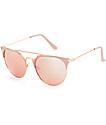 Big Shot gafas de sol en color oro rosa