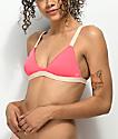 Billabong Just A Hint Coral Pink Triangle Bikini Top