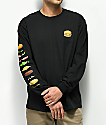 Bob's Burgers x Habitat Expanded Burger Black Long Sleeve T-Shirt