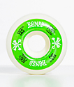 Bones 100 Ringers 53mm Green & White Skateboard Wheels