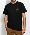 Brixton Birman camiseta en negro y color oro