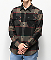 Brixton Bowery Black, Charcoal & Red Flannel Shirt