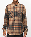 Brixton Bowery Cream, Copper & Navy Flannel Shirt