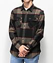 Brixton Bowery camisa de franela negra, gris y roja