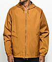 Brixton Claxton Copper Hooded Windbreaker Jacket
