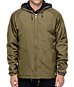 Brixton Claxton chaqueta cortavientos en color olivo