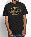 Brixton Concord Black & Gold T-Shirt
