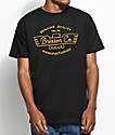 Brixton Concord camiseta negra y color dorado