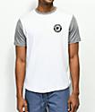 Brixton Forte III White & Grey T-Shirt