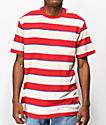 Brixton Hilt Cream & Red Striped T-Shirt