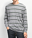 Brixton Hilt Grey & Green Pocket Long Sleeve T-Shirt