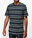 Brixton Hilt Navy Striped T-Shirt