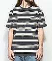 Brixton Hilt Striped Black Wash Knit Shirt