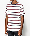 Brixton Hilt White Striped T-Shirt