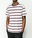 Brixton Hilt camiseta a rayas blancas, rojas, y azules