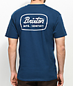 Brixton Jolt Dark Blue T-Shirt