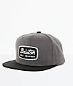 Brixton Jolt Gorra snapback en negro y gris