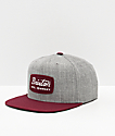 Brixton Jolt Heather & Burgundy Snapback Hat