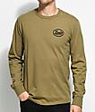 Brixton Kansas camiseta de manga larga en verde olivo