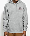Brixton Merced Heather Grey Fleece Hoodie