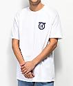 Brixton Native II camiseta blanca y azul marino