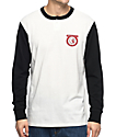 Brixton Native Off-White & Black Henley Long Sleeve Knit T-Shirt