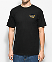 Brixton Normandie camiseta negra