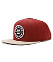 Brixton Oath III Burgundy Snapback Hat