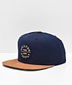 Brixton Oath III Tan & Navy Snapback Hat