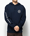 Brixton Oath Navy Hoodie