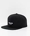 Brixton Obtuse II Black Snapback Hat