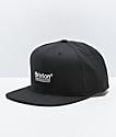 Brixton Palmer II Black Snapback Hat