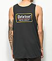 Brixton Palmer II camiseta sin mangas en negro y amarillo