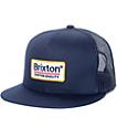 Brixton Palmer gorra trucker en blanco y azul marino