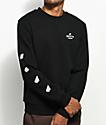 Brixton Peabody Black Crew Neck Sweatshirt