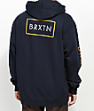 Brixton Rift II Navy & Gold Hoodie