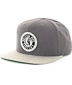 Brixton Rival Charcoal & Light Grey Snapback Hat