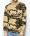 Brixton Stith Camo Long Sleeve T-Shirt
