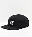 Brixton Stowell Black 5-Panel Strapback Hat