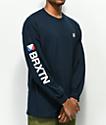 Brixton Stowell camiseta de manga larga azul marino