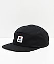 Brixton Stowell gorra negra de 5 paneles