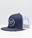 Brixton Wheeler Denim & White Mesh Trucker Snapback Hat