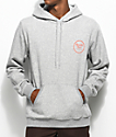 Brixton Wheeler Grey & Orange Hoodie