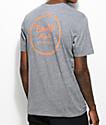Brixton Wheeler Grey & Orange T-Shirt