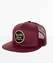 Brixton Wheeler gorra trucker en color vino