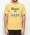 Brixton x Coors Banquet Hops Premium Buff Yellow T-Shirt