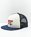 Brixton x Coors Heritage gorra blanca con malla azul