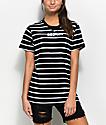 Broken Promises Black & White Stripe T-Shirt
