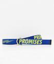 Broken Promises Bolted Blue Web Belt